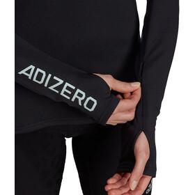 adidas Adizero LS 1/2 Zip Shirt Women, zwart